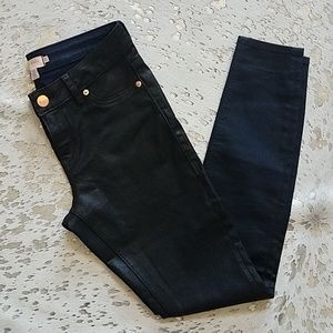 Ted Baker Coated Wax Skinny Jean Ombre Sz27